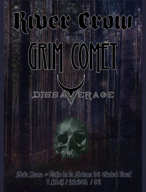 River Crow en Sala Nana Conciertos junto a Dissaverage y Grim Comet